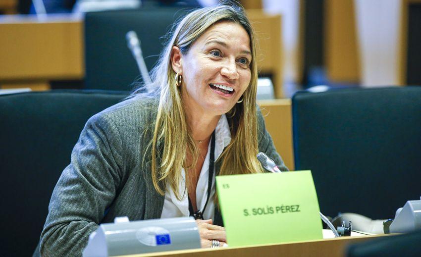 Susana Solís, durante un pleno en el Parlamento Europeo (Foto. Europarl)