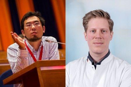 Dr. Joost Meijer y Astone Shi. (Foto. University Medical Center Groningen)